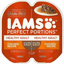 IAMS Perfect Portions Healthy Adult Grain Free Chicken Recipe Cuts, 6-Twin Packs