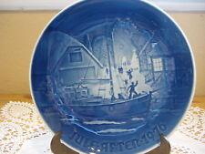 """1976 B & G Copenhagen Porcelain """"Christmas Welcome"""" Plate Made In Denmark"""