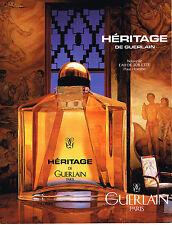 PUBLICITE ADVERTISING 074  1992  GUERLAIN  pour homme  senteurs