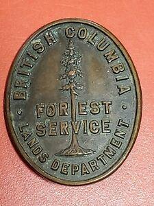 Vintage British Columbia Forest Service Lands Department Badge