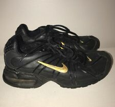 Nike Max Air Black & Gold Running Walking Sneakers Boys Girls Shoes Size 5.5 #j
