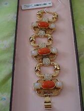NWT NEW ANN TAYLOR Porta Deco Bracelet Orange Coral Gifts Gift $59.50