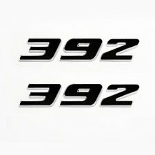 (2pc) New Black 392 HEMI emblem w Chrome Trim includes passenger & driver side