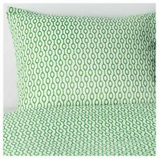 Ikea RÖDVED RODVED Queen Duvet Cover w/2 Pillowcases Bed Set Green/White -