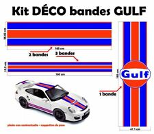 """GULF Racing style Stripe and Logo """"universel*"""" Sticker bandes"""