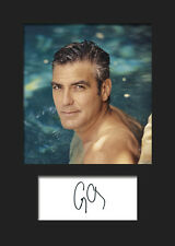 GEORGE CLOONEY #2 A5 Signed Mounted Photo Print - FREE DELIVERY