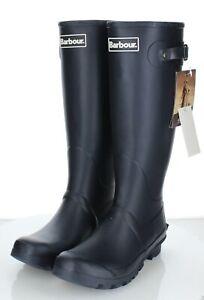 75-20 NEW $100 Women's Sz 6 M Barbour Bede Wellington Rain Boots In Navy