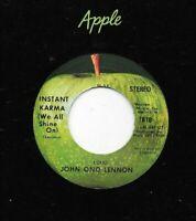 JOHN LENNON - 45 - Instant Karma - 1970- UNPLAYED STONE MINT USA APPLE - Beatles