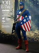 "Captain America Toy Fair 2013 Exclusive Stars Spangled MMS205 12"" Figur Hot Toys"