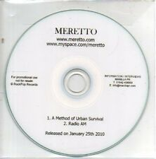 (AB494) Meretto, A Method Of Urban Survival - DJ CD