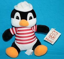 "New Fiesta PENGUIN 8"" PAULIE Plush Red White Striped Shirt Sailor Hat C15581 Toy"