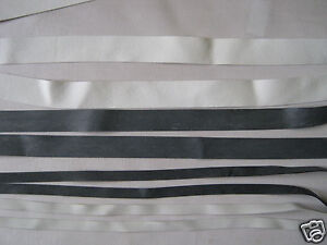 RUBBER / SWIMWEAR / LEOTARD / LINGERIE  ELASTIC  WHITE / DARK GREY / CLEAR TAPE