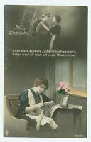 Alte Ansichtskarte Postkarte Soldatenabschied Auf Wiedersehn 1915
