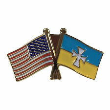 Sigma Chi Flag and USA Flag Lapel Pin