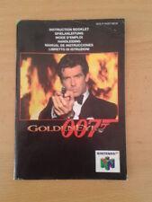 NINTENDO 64 GOLDENEYE 007 INSTRUCTION MANUAL INSTRUCCIONES PAL N64