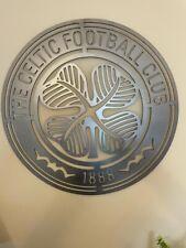 More details for celtic fc metal football wall badge steel emblem crest  600mm