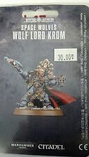 Warhammer 40K Space Marine SPACE WOLVES WOLF LORD KROM New Sealed