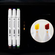 1PC Double Headed Artist Pen Marker Design Paint Sketch Copic Drawing Mark Pen