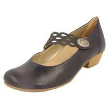 Suede Upper Mary Janes Standard (D) Block Heels for Women