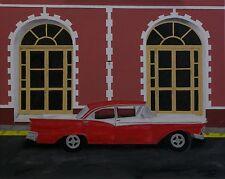 "Cuba Oil Painting, Trinidad Cuba Facade and Vintage Car (16"" x 20"")"