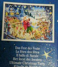 "Ravensburger Christmas 1000 Piece Puzzle No 197651 Used Complete 27"" x 20"""