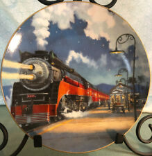 SP Daylight Colors At Night Railroad  Hamilton Collection By David Turner Plate