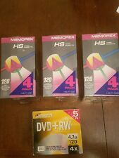 Memorex dvd and video cassette bundle pack