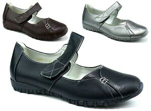 BRAND NEW LADIES/WOMEN'S MARY JANE BIGGER SIZES COMFORT CASUAL WEAR  SHOES