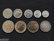 Algeria sets of coins. 1 - 100 Dinars 1 set of nine coins. UNC