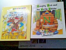 2 Letterland  Storybooks - Naughty Nick paperback Wicked Witch Hardback