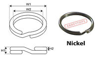 Nickel Split Rings 28mm Keyring Hook Loop Leather Craft x20