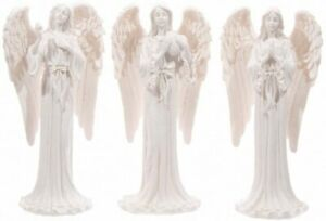 Decorative White Angel Standing 20cm Figurine Ornament Figure Shrine Sculptures