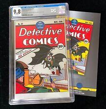 First Release 2018 DC Detective Comics #27 CGC 9.8 Mint Silver Foil Batman