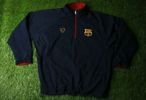 BARCELONA 2000/2001 FOOTBALL DOUBLE SIDED ZIP SWEATSHIRT TRAINING NIKE ORIGINAL