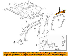 Acura HONDA OEM 96-02 RL Interior-Rear Trim Right 84132SZ3A00ZD
