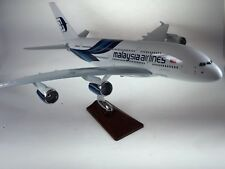 Air Malaysia Large Plane Model A380  On Stand Apx 47Cm Solid Resin
