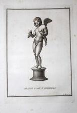 Genius Bacchus Wein-Traube Hase Amor Flügel Akt Erotik Putto Neapel Herculaneum