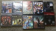 PS3 and PS2 games, Skyrim, Grand Theft Auto, Resident Evil, Mega Man, Sims, Ico.