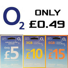O2 Network SIM CARD Pay as You Go 02  UNLIMITED CALLS AND TEXTS 3GB / 6GB Data