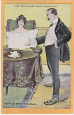 Marriage Postcard - How to Treat A Husband When Quarrelsome - Ignore Him