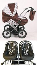 Elcar Zwillingswagen, Kinderwagen Twin, verschiedene Farben, + 2x Autositz