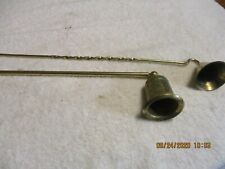 2 BRASS CANDLE SNUFFERS