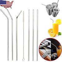 Metal Straws Stainless Steel Drinking Straws Smoothie Reusable For Yeti Rtic USA