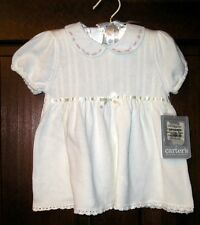 CARTERS BABY GIRL WHITE SUMMER KNIT DRESS SZ. 6-9 MO. NWT