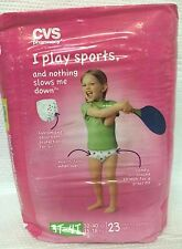 GIRLS DISPOSABLE TRAINING PANTS ~ SIZE 3T - 4T ~ 23 COUNT ~ COMFY STRETCH FIT