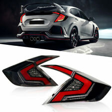 Smoky/Red Led TailLights For  Honda Civic 2016-2020 Rear Lamp Start-Up Animation