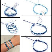 3 Pcs/Set Women Beach Boho Wave Braided Weave Rope Bracelet Fashion Jewelry Gift