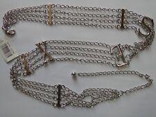 Womens Metal Crystal Waist Chain Belt  Buckle Body Chain