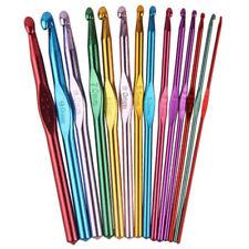 14 Sizes Multi coloured Aluminum Crochet Hooks Knitting Needles Set 2mm-10mm
