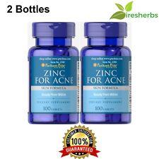 ZINC FOR ACNE SKIN FORMULA 200 TABLETS MULTIVITAMIN PILL HIGH POTENCY SUPPLEMENT